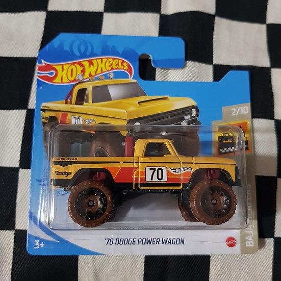 Hot Wheels 2021 Baja Blazers 70 Dodge Power Wagon  4x4 Pickup Yellow  Short Card