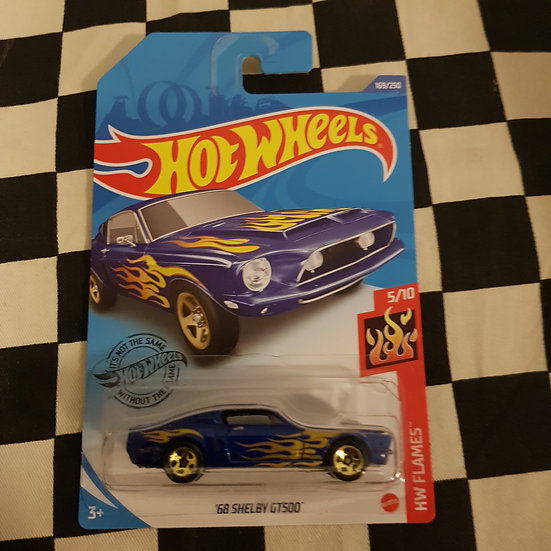 Hot Wheels 2020 Flames 68 Shelby GT500 Ford Mustang Blue