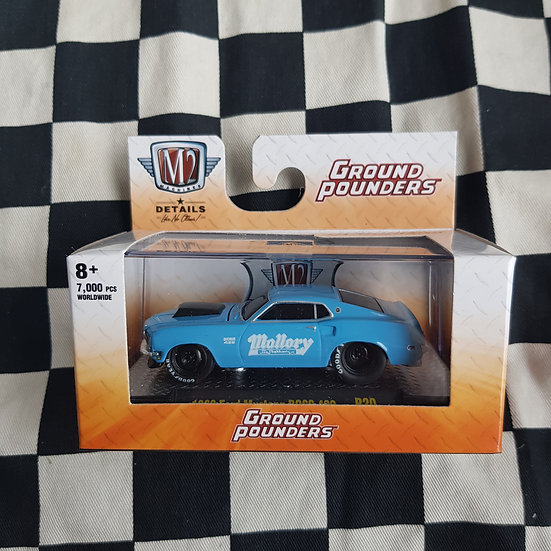 M2 Machines 1;64 Boxed Ground Pounders 1969 Ford Mustang Boss 429  Mallory