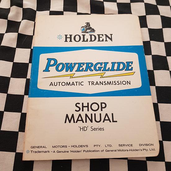 Holden HD Powerglide Service Manual HR X2 Premier
