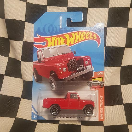 Hot Wheels 2019 Hot Trucks Land Rover Series III Red