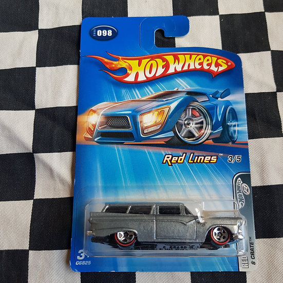 Hot Wheels 2005 Red Lines 8 Crate Ford Customline Wagon Grey