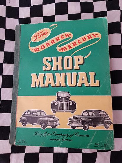 Original 1946 Ford Mercury & Monarch Passenger Car & Truck Workshop Manual
