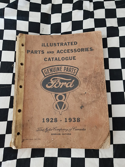 Factory Ford Illustrated Parts & Accessories Catalogue 1928 to 1938