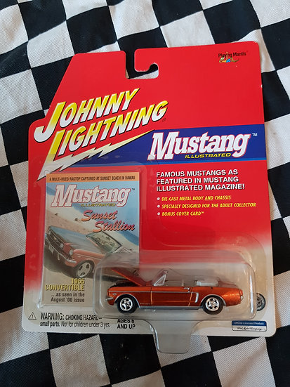 Johnny Lightning Mustang Illustrated 65 Ford Mustang convertible ORANGE