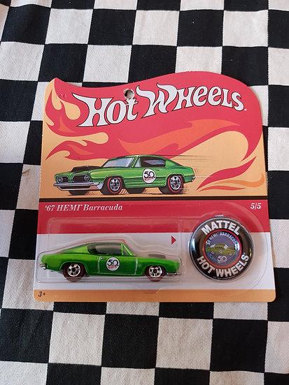 Hot Wheels 2018 50th Original Card 67 Hemi Barracuda