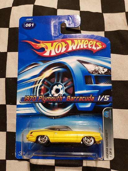 Hot Wheels 2006 Mopar Madness 1970 Plymouth Barracuda Yellow