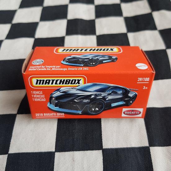 Matchbox Power Grab 2018 Bugatti Divo  Black VHTF
