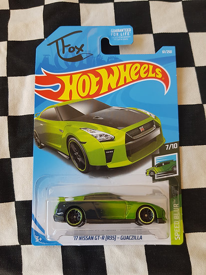 Hot Wheels 2019 Speed Blur J Fox 17 Nissan GT-R Gauczilla