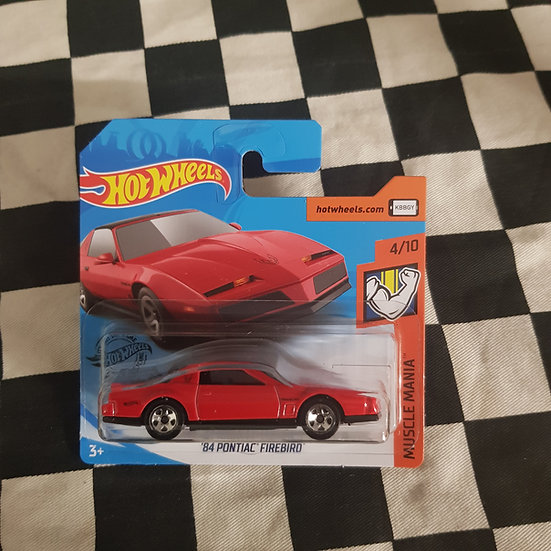 Hot Wheels 2020 Muscle Mania 84 Pontiac Firebird Red Short Card