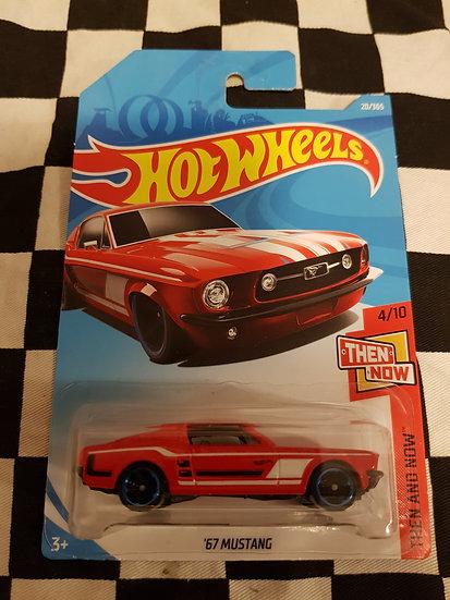 Hotwheels (2017) 67 Mustang Then & Now