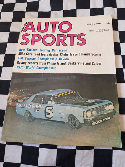 Australian Auto Sports Magazine March 1971