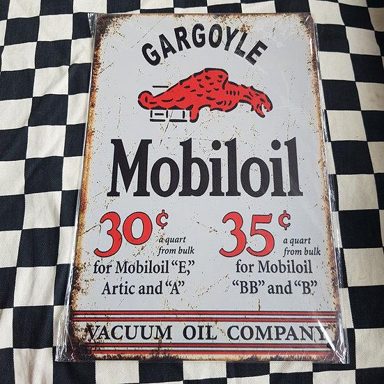 Tin Sign Repro 20x30 Gargoyle Mobil OIl