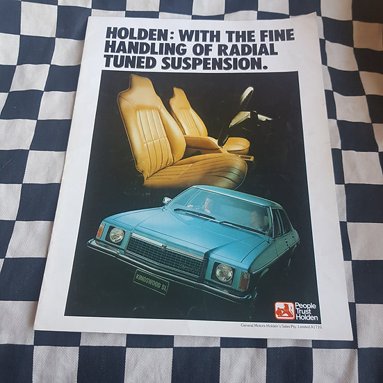 Genuine Holden Hz GTS Monaro Sandman Premier Statesman LX Torana Sales Brochure