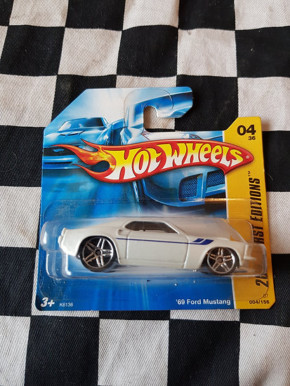 Hot Wheels 2007 First Editions White 1969 Mustang