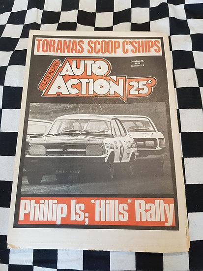 Australian Auto Action Magazine #19 Oct 29 1971