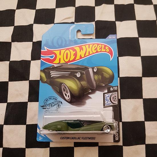 Hot Wheels 2020 Rod Squad Custom Cadillac Fleetwood Green