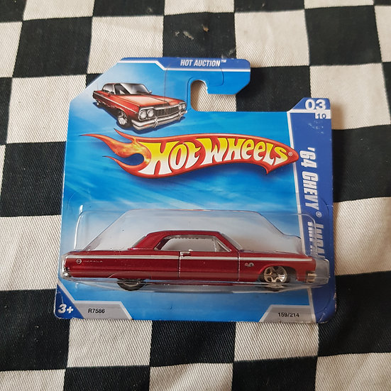 Hot Wheels 2010 Hot Auction 1964 Chevy Impala Red Short Card