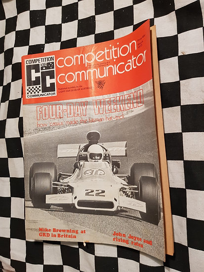 Competition Communicator Vol 1 #6 March 1973 race programme