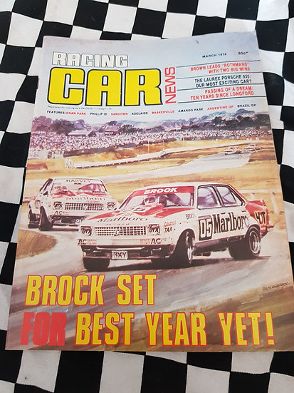 RACING CAR NEWS 3/78  Brock!