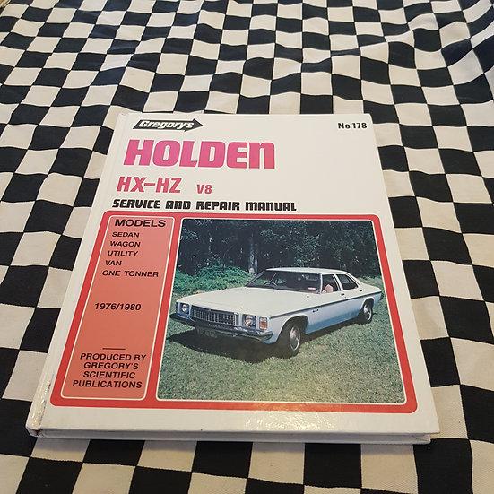 Gregorys Holden HX HZ V8 253 308 Workshop Manual Kingswood Premier Ute Van Sedan