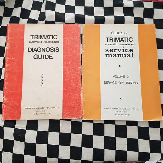 Pair of Holden Trimatic Books Service Manual Diagnosis Guide