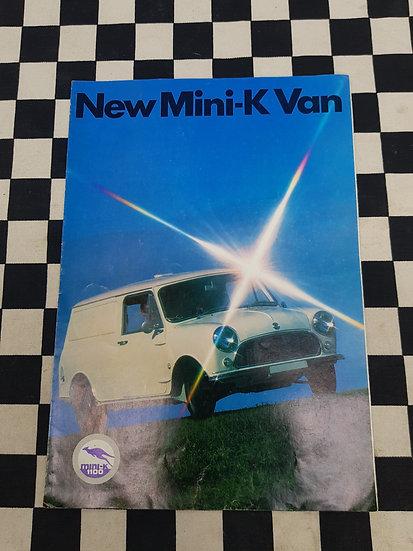 Mini K Van Sales Brochure 1100 Leyland