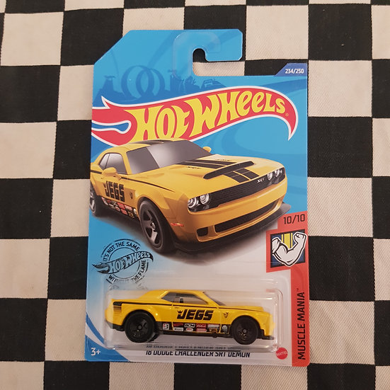 Hot Wheels 2020 Muscle Mania Jegs 18 Dodge Challenger SRT Demon Long Card