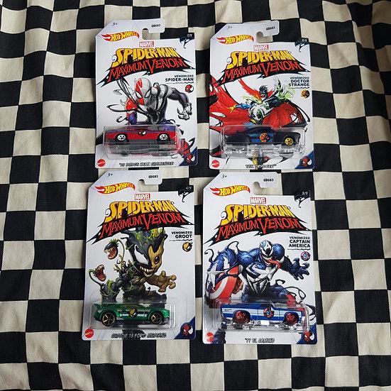 Hot Wheels Spiderman Maximum Venom Choice of 4