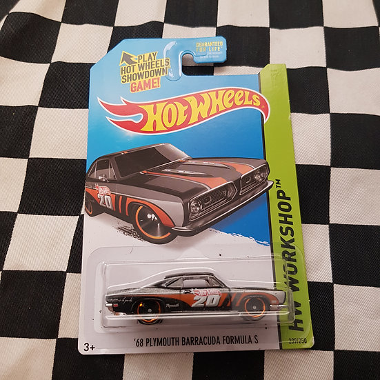 Hot Wheels 2013 Workshop 68 Plymouth Barracuda Formula s Grey