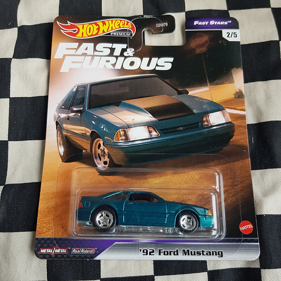 Hot Wheels Premium Fast & Furious Fast Stars 92 Ford Mustang
