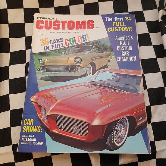 Popular Customs Magazine Winter 1963 #4 Chevrolet Buick
