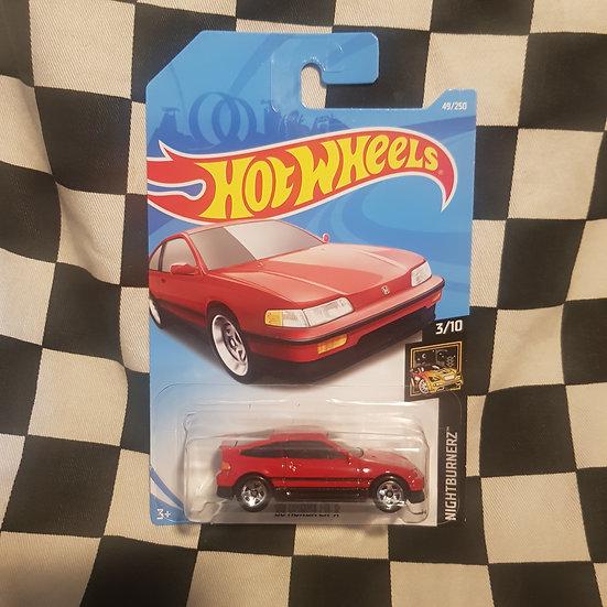 Hot Wheels 2019 Nightburnerz 1988 Honda CRX Red