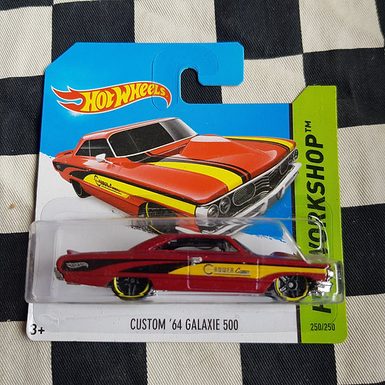 Hot Wheels 2014 Workshop Custom 64 Galaxie 500 RED  Crower Cams Short Card