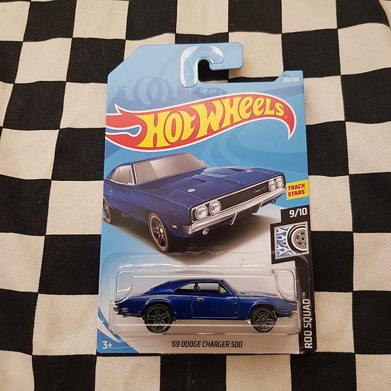 Hot Wheels 2019 Rod Squad 69 Dodge Charger 500 Dark Blue