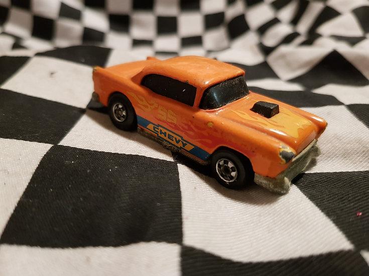Hot Wheels 55 Chevy Orange Vintage Loose