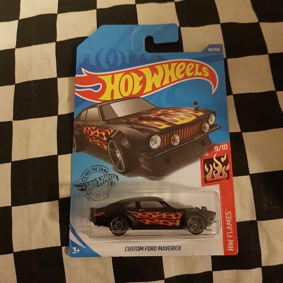 Hot Wheels 2020 Flames Custom Ford Maverick Black