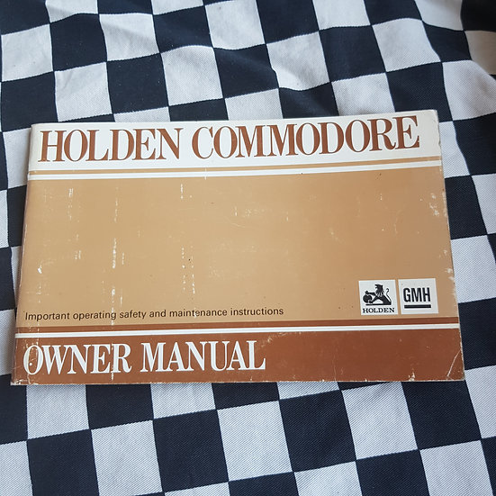 Genuine Holden VB Commodore Owners Manual