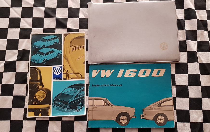 Rare Volkswagen VW 1600 Owner Manual And Accessories Brochure Set incl Beetle