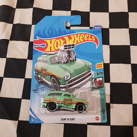 Hot Wheels 2020 Tooned Surf n Turf Woody Hot Rod Wagon Light Green
