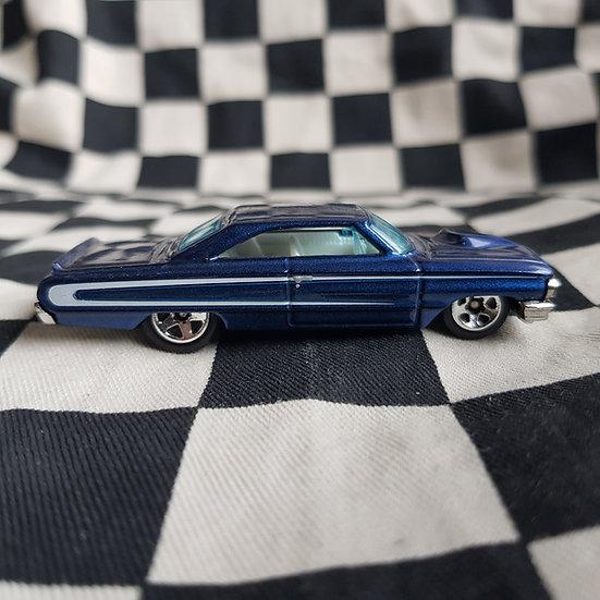 Hot Wheels Loose Custom 64 Ford Galaxie Blue