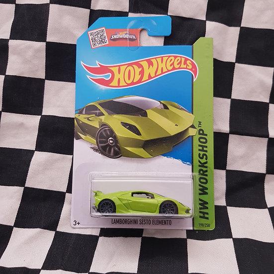 Hot Wheels 2014 Workshop Lamborghini Sesto Elemento Green