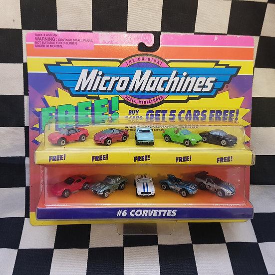 Original 1998 Micro Machines #6 Corvette 10 Car Bonus Pack