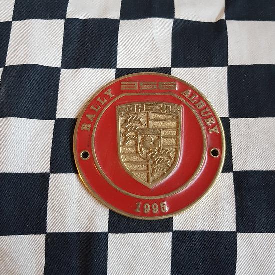 Porsche 356 Rally Albury 1995 Badge/ Plaque