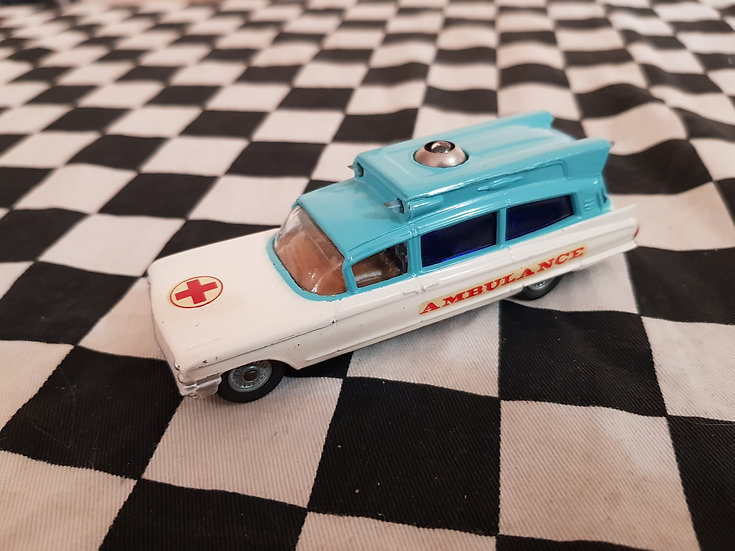 Corgi Superior Ambulance on Cadillac Chassis Near Mint