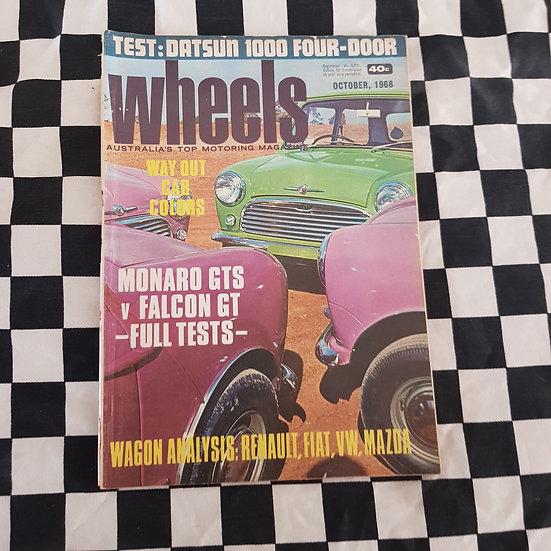Wheels Magazine Oct 1968 Monaro GTS vs Falcon GT Full Test MIni