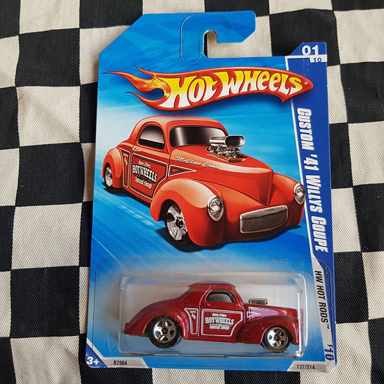 Hot Wheels 2010 Hot Rods Custom 41 Willys Coupe Red Gasser