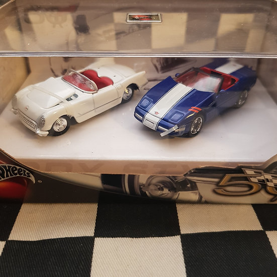 Hot Wheels 2002 Limited Edition 50th Corvette Anniversary Twin Set Boxed