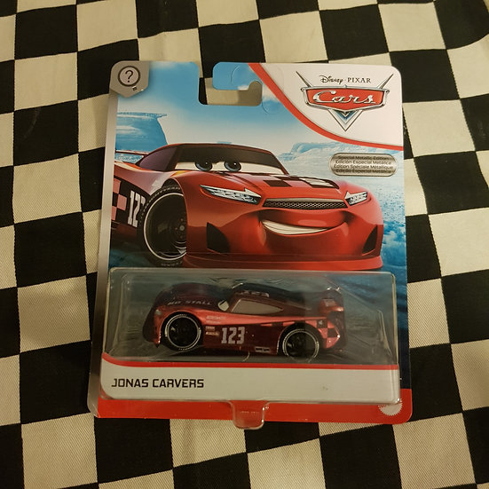 Disney Pixar Cars CHASE Jonas Carvers Red