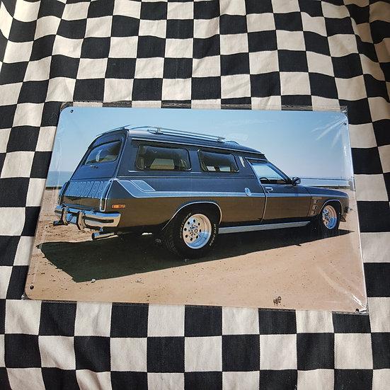 Tin Sign Repro 20x30 Sandman Van
